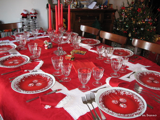 Natale a tavola - Addobbi natalizi sulla tavola ...